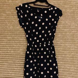 Gap Dress Size XS Navy White Polka Dots Sleeveless